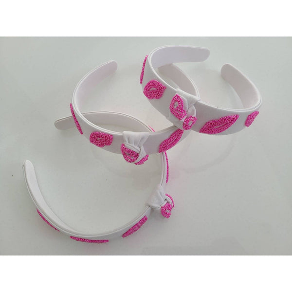 Tiana Designs - LIPS beaded headband