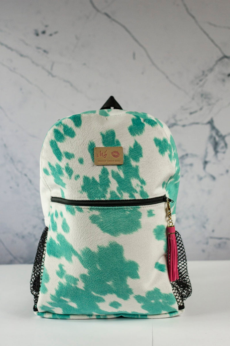 Makeup Junkie Bags  Backpack - Bonnie and Hide Turquoise *Pre Order