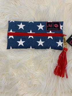 Makeup Junkie Bag Red, White, & Beautiful  - Mini