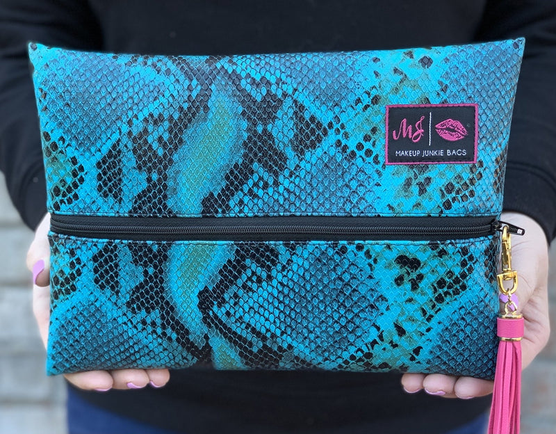 Makeup Junkie Bag - Aqua Viper