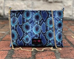 Makeup Junkie bag Crossbody - Indigo Viper