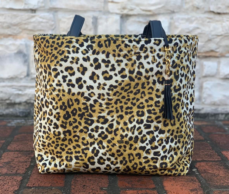 Makeup Junkie Bag - Jungle Cat Bronze Tote