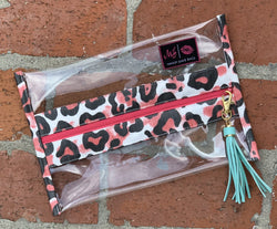 Makeup Junkie Bag - In The Clear leopard *Pre Order