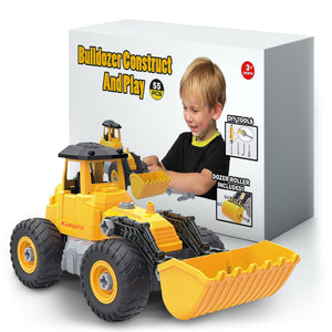 Kidtastic Bulldozer Toy, Take Apart STEM Fun, Ages 3 – 6 yr, 55 Pieces, Construction Truck Vehicle