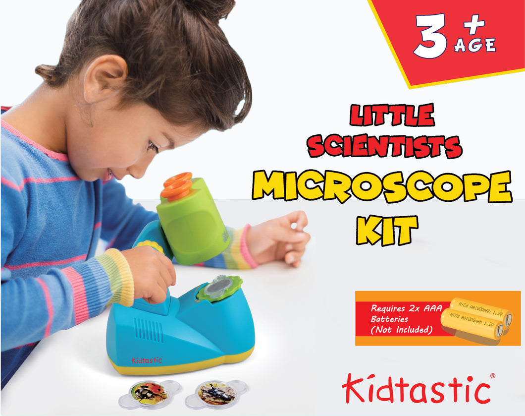 Kidtastic Microscope Kit - Fun Science Toys Includes 12 Slides