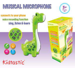 Kidtastic Play Microphone for Kids – Educational MP3 Player with Colorful Lights