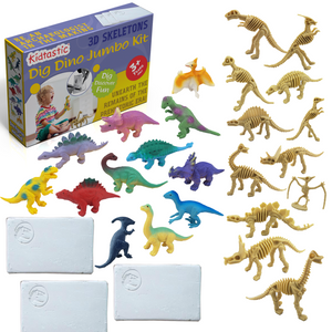 Kidtastic Dig Dinosaur Mega Pack of 3 – Collect 4 Possible Dinosaur Sets