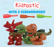 Kidtastic Dinosaur Build Toys - T-Rex, Velicoraptor, Triceratops - New 2019 Model