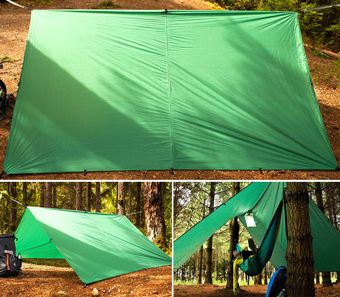 When adventuring with a camping tarp