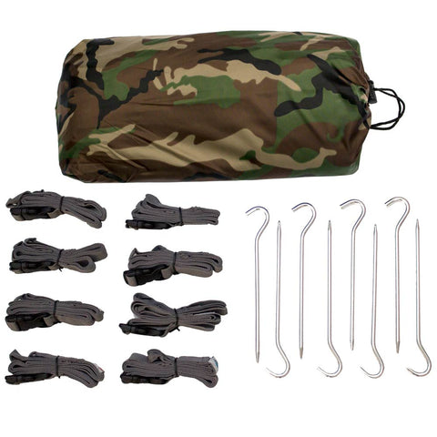 Defender Camo Tarp Kit - Large - Aqua Quest Waterproof