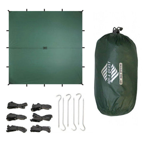 Guide Sil Tarp Kit - Square (10 x 10 ft ) - Aqua Quest Waterproof