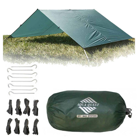 Guide Sil Tarp Kit - Large (13 X 10 FT) - Aqua Quest Waterproof