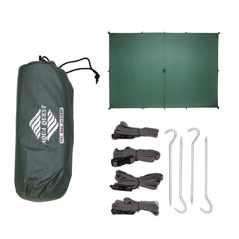 Guide Sil Tarp Kit - Medium <br/>10 x 7 ft - Aqua Quest Waterproof