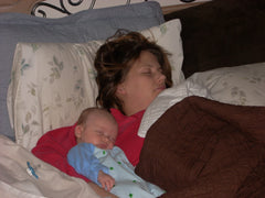SALT effect - picture of sleeping mom and baby