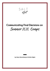 SALT effect guide to communicating 2020 summer camp decisions