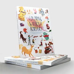 Coloring Without Borders coloring book supports Families Belong Together