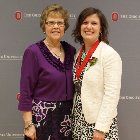 Kristie and Penny at Ohio State teaching awards