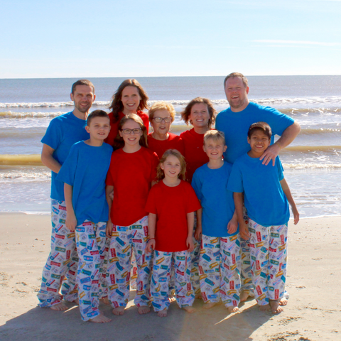Family picture at the Isle of Palms in Charleston, SC
