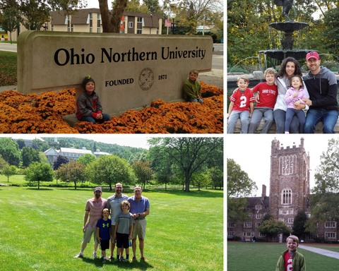 Visiting colleges Ohio Northern Ohio State Duke University