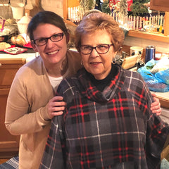 Picture of me with my mom at Christmas