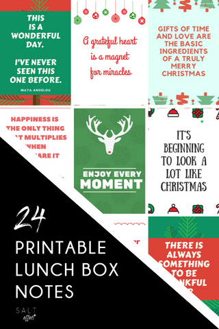 Christmas Lunchbox Note Cards