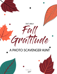 Fall GRATITUDE PHOTO SCAVENGER HUNT - SALT effect