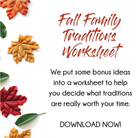 Fall Family Traditions Worksheet