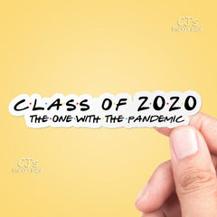 Class of 2020 Vinyl Sticker, Best Friend Gift, Trendy Stickers, Laptop Decals, Quote Sticker, Water Bottle Sticker, Macbook Stickers - SALT effect - Top 10 gifts for grads, gifts for high school graduates, gifts for 2020 seniors, gifts for 2020 graduates -