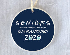 Funny Ornament for Class of 2020 Friends Senior Graduation Present Gift Quarantine College High School Humor Graduate Postponed Ceremony - SALT effect - Top 10 gifts for grads, gifts for high school graduates, gifts for 2020 seniors, gifts  for 2020 graduates