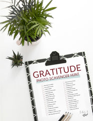 gratitude photo scavenger hunt