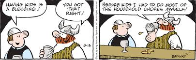 Hagar the Horrible comic about moms and chores