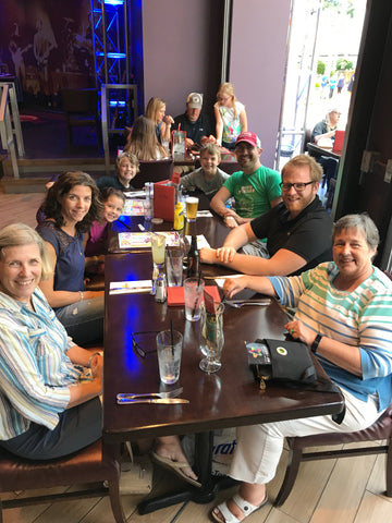 Dinner out with extended family in Minnesota