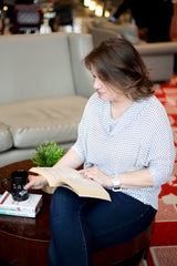 SALT effect - picture of Kristie Sigler reading