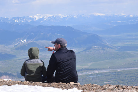 Top of the mountain in Jackson Hole