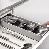 Joseph Joseph 85119 DrawerStore Kitchen Drawer Organizer Tray for Cutlery Silverware, Gray