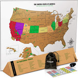 scratch off US map, gifts for tween and teen boys