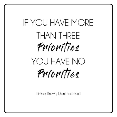 Brene Brown Priorities Quote