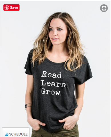 Read Learn Grow Sevenly Tshirt