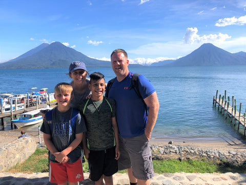 Sigler family in Panajachel at Lake Atitlan Guatemala