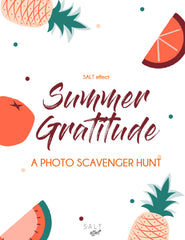 summer GRATITUDE PHOTO SCAVENGER HUNT - SALT effect