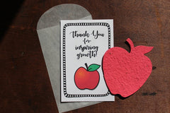 Thank you for inspiring growth - SET OF 8 - includes color printed card, seed paper, and envelope - SALT effect - Teacher Mom gifts and Mother's Day Gifts for Teacher Moms 2020