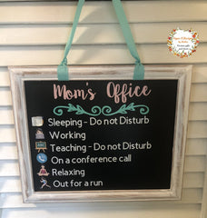 Moms office door sign,Sign for home office,Mom's office sign for kids,Teaching sign,On a call sign,Conference call sign,Home office sign   - SALT effect - Teacher Mom Mother's Day Gift Guide 2020