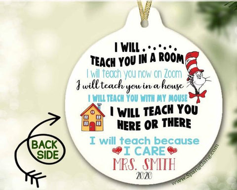 2020 Teacher Appreciation Gift | PERSONALIZED | I will teach you in a room I will teach you now on Zoom | Custom Teacher Gift | Back School - SALT effect - Teacher Mom Mother's Day Gift Guide 2020