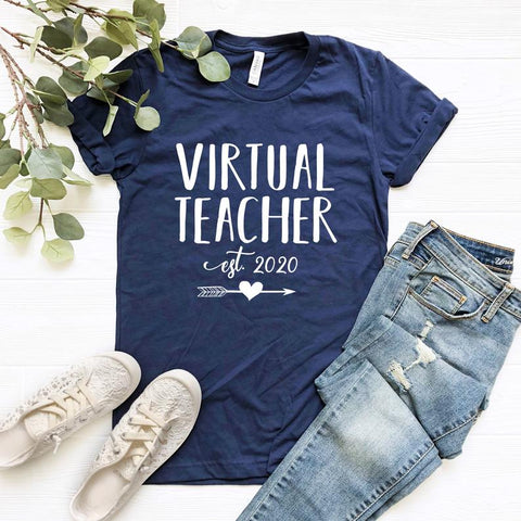 Virtual teacher shirt, Distance Learning Teacher, Virtual Teaching TShirt, Teacher Shirts, Shirts For Teachers, Remote Learn 2020     - SALT effect - Teacher Mom Mother's Day Gift Guide 2020