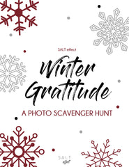 WINTER GRATITUDE PHOTO SCAVENGER HUNT - SALT effect