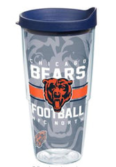 Tervis tumbler with navy lid and Chicago Bears logo