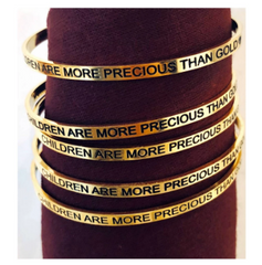 Gold Awareness Bangle - Momcology