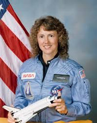 Christa McAuliffe astronaut and teacher on the Challenger