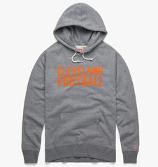 Homage gray hoodie with Cleveland Football in orange letters
