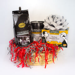 Buckeye coffee lover gift basket - Silver Bridge Coffee - SALT effect - Mother's Day 2020 - Mother's Day 2020 gift list - gifts for mom - Ohio small business - Columbus small business - shop small in Ohio - shop local in Columbus